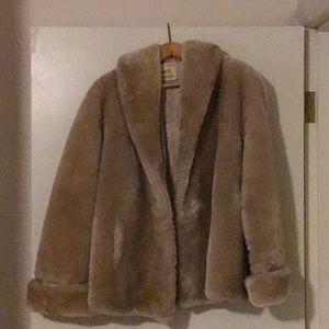 Jackets & Blazers - Women's Vintage 1950s Mouton lambs wool jacket
